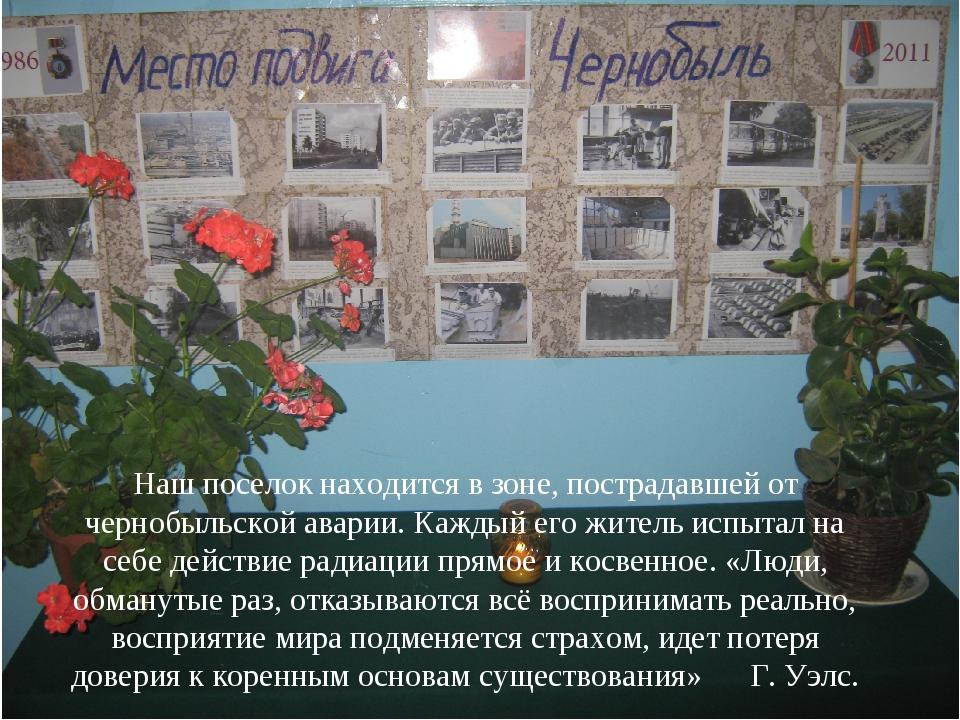 Наш поселок находится в зоне, пострадавшей от чернобыльской аварии. Каждый ег...
