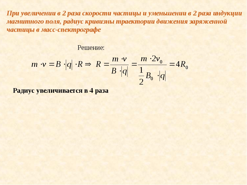 При увеличении в 2 раза скорости частицы и уменьшении в 2 раза индукции магни...