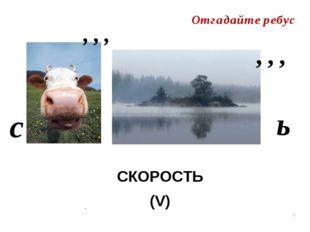 . СКОРОСТЬ (V)