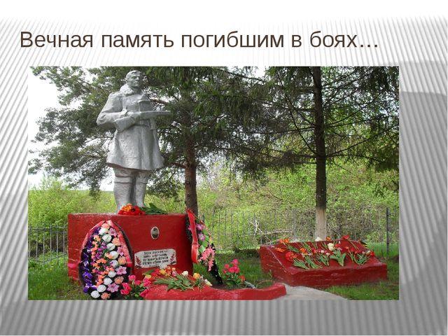 Вечная память погибшим в боях…