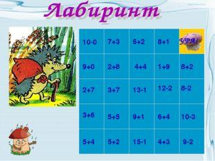 10-0 7+3 9-2 9+1 6+4 10-3 12-2 8-2 1+9 8+2 8+1 6+2 2+8 2+7 3+7 5+4 3+6 5+5 5+