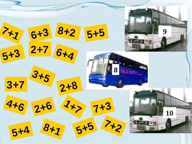 7+2 5+5 8+1 5+4 7+3 1+7 2+6 4+6 2+8 6+3 3+5 6+4 2+7 5+3 7+1 3+7 8+2 5+5