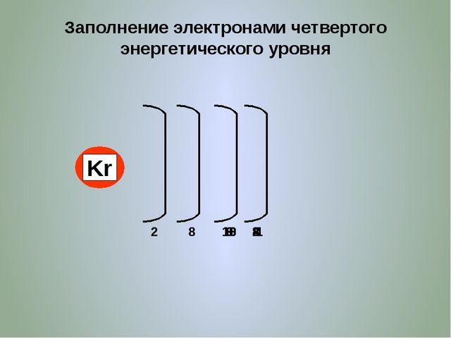 Максимальное количество электронов на уровне 2 8 18 32