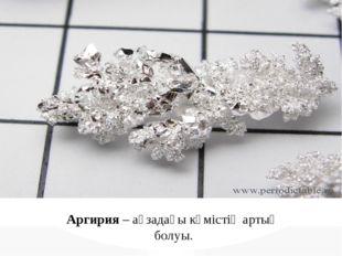 Аргирия – ағзадағы күмістің артық болуы.
