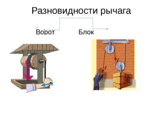 Разновидности рычага ВоротБлок