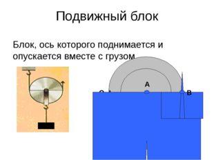 Подвижный блок Блок, ось которого поднимается и опускается вместе с грузом О