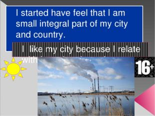 I started have feel that I am small integral part of my city and country. I l