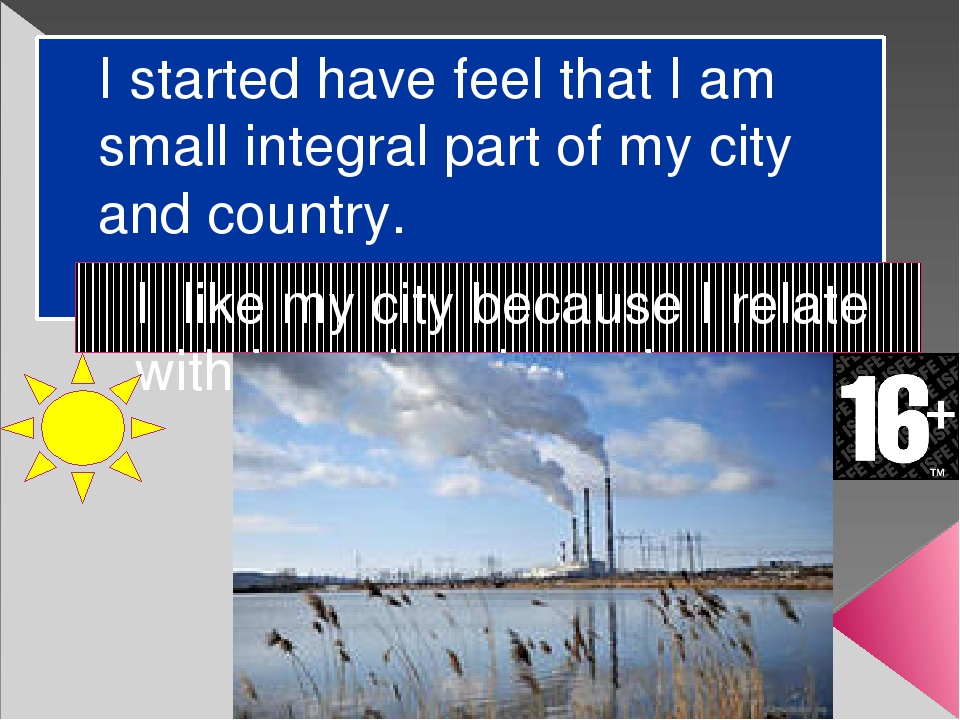 I started have feel that I am small integral part of my city and country. I l...