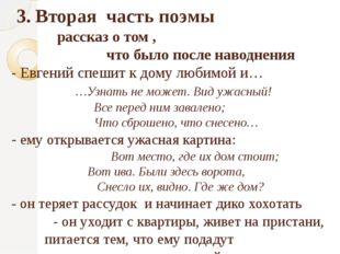 3. Вторая часть поэмы рассказ о том , что было после наводнения - Евгений сп