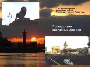 Последствия кислотных дождей … в Санкт-Петербурге – Казанскому собору, Алекса