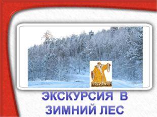 ЭКСКУРСИЯ В ЗИМНИЙ ЛЕС Зимний лес в объятьях тишины Задремал, укутав ветки сн