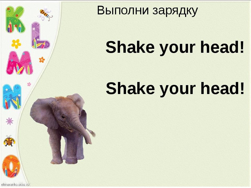 Выполни зарядку Shake your head! Shake your head!