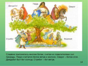Славяне поклонялись многим богам, считая их повелителями сил природы. Перун с