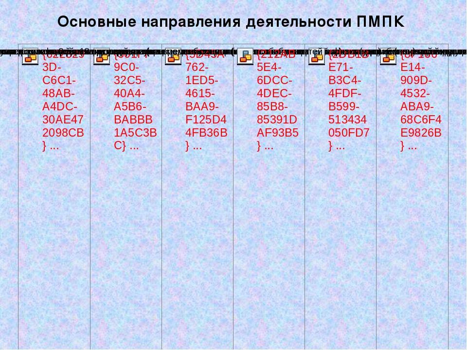 Основные направления деятельности ПМПК