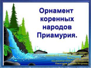 Презентация выполнена ученицей 4 Б класса МОУ гимназии № 45 Васильевой Ирины,