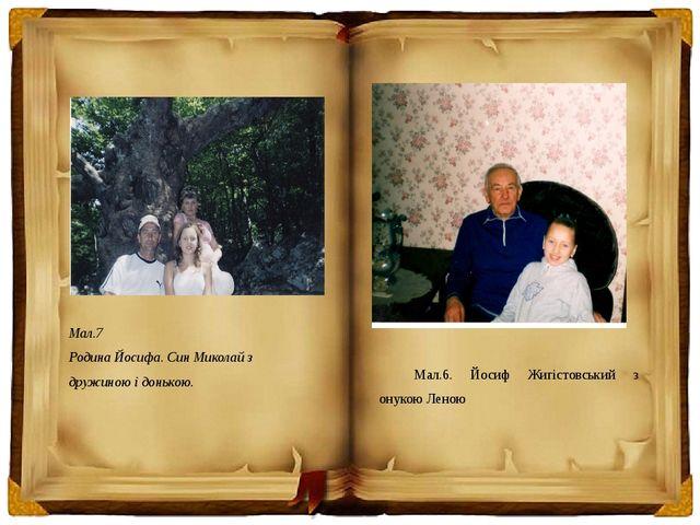 Мал.7 Родина Йосифа. Син Миколай з дружиною і донькою. Мал.6. Йосиф Жигістовс...