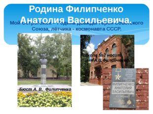 Мой Острогожск – Родина дважды Героя Советского Союза, лётчика - космонавта С