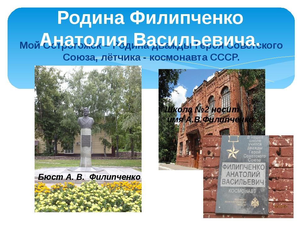 Мой Острогожск – Родина дважды Героя Советского Союза, лётчика - космонавта С...