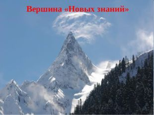 Вершина «Новых знаний»