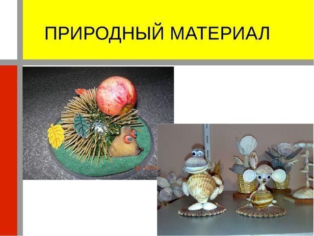 ПРИРОДНЫЙ МАТЕРИАЛ