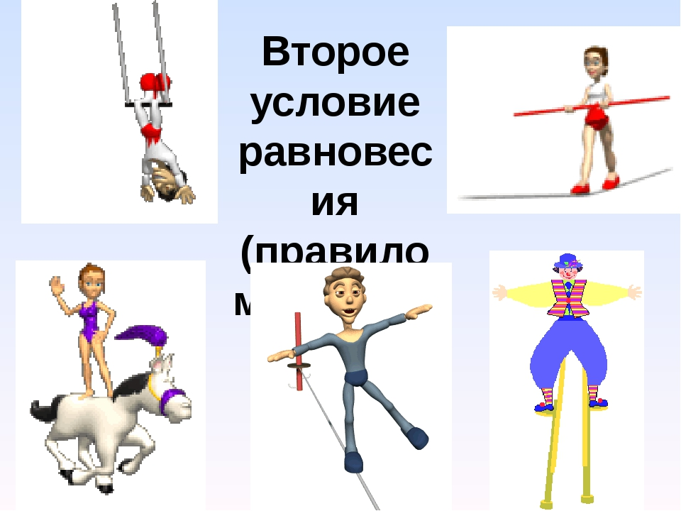 Второе условие равновесия (правило моментов)