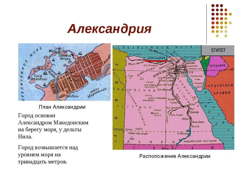 Александрия Город основан Александром Македонским на берегу моря, у дельты Ни...