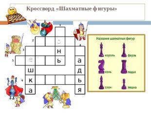 Кроссворд «Шахматные фигуры» 1 2 3 4 5 6 1. Он, не цокает, конечно, Но легко