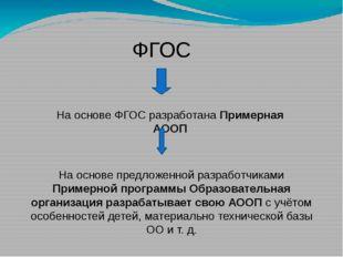 ФГОС На основе ФГОС разработана Примерная АООП На основе предложенной разраб