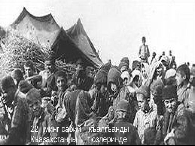 22 минг сабий къалгъанды Къазахстанны тюзлеринде