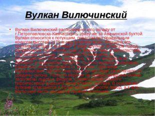 Вулкан Вилючинский Вулкан Вилючинский расположен к юго-западу от г.Петропавло
