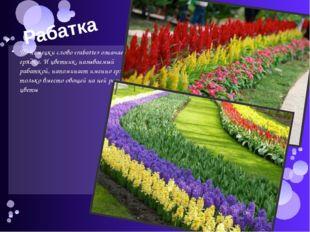 Рабатка По-немецки слово «rabatte» означает грядка. И цветник, называемый раб