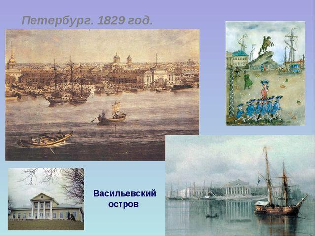 Петербург. 1829 год. Васильевский остров