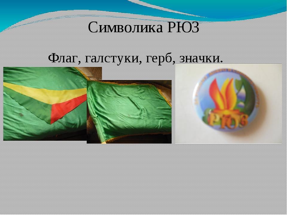 Символика РЮЗ Флаг, галстуки, герб, значки.