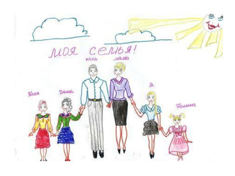Как нарисовать семьи