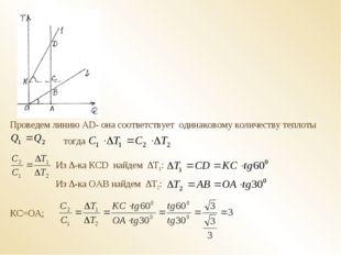 Проведем линию АD- она соответствует одинаковому количеству теплоты тогда Из