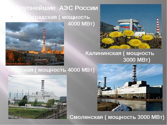 Преимущества АЭС: - Отсутствие вредных выбросов Выбросы радиоактивных веществ...