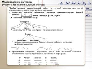 Моделирование на уроках русского языка в начальных классах волк вишня утка л
