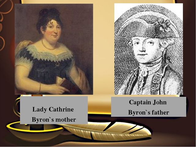 Captain John Byron`s father Lady Cathrine Byron`s mother
