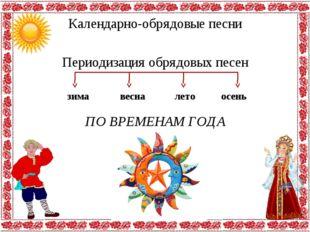Календарно-обрядовые песни Периодизация обрядовых песен зима весна осень лето