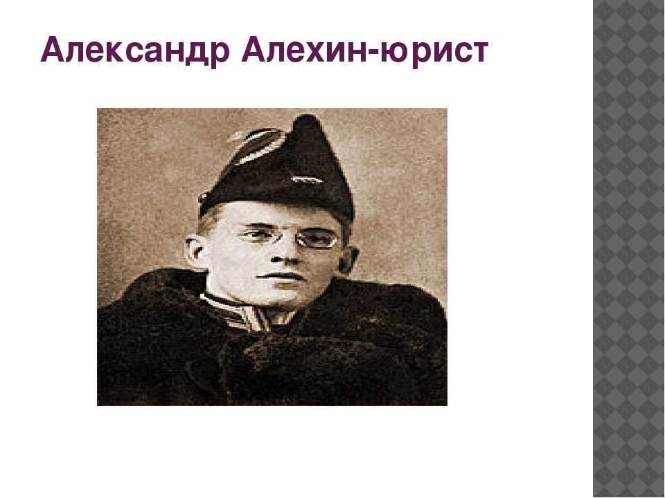 Александр Алехин-юрист