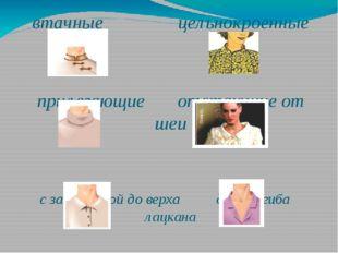 втачные цельнокроенные прилегающие отстающие от шеи с застежкой до верха до п