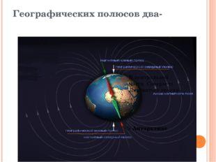 Географических полюсов два- В центральной части Северного Ледовитого океана В