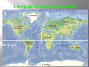 Географическое положение 0 0 экватор 1