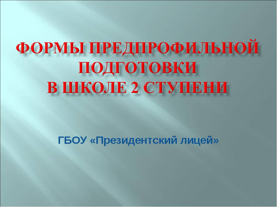 ГБОУ «Президентский лицей»