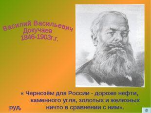 « Чернозём для России - дороже нефти, каменного угля, золотых и железных руд
