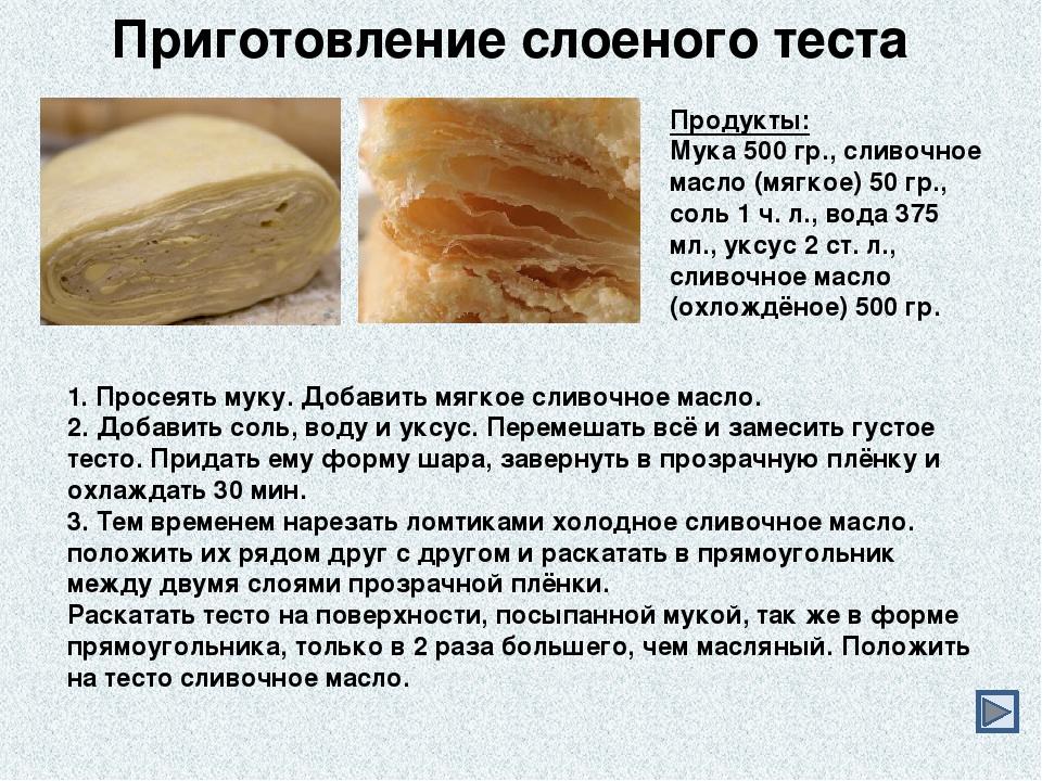 Рецепты слоеного теста в домашних условиях дрожжевое тесто