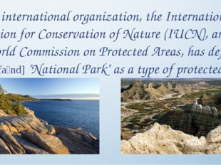 An international organization, the International Union for Conservation of Na