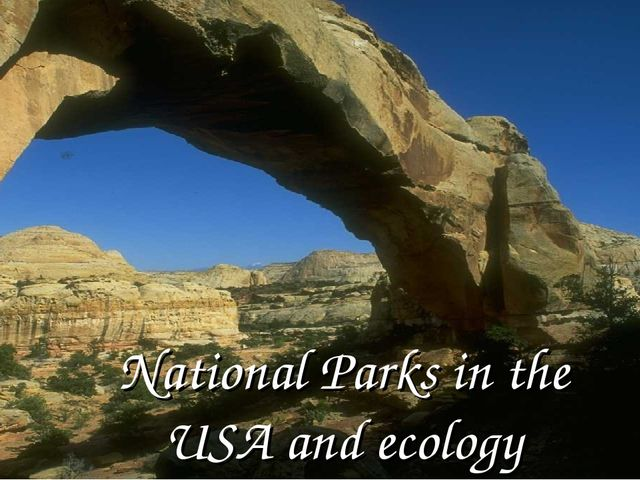 National Parks in the USA and ecology