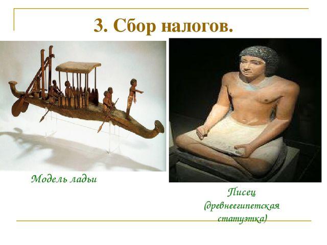 3. Сбор налогов. Модель ладьи Писец (древнеегипетская статуэтка)