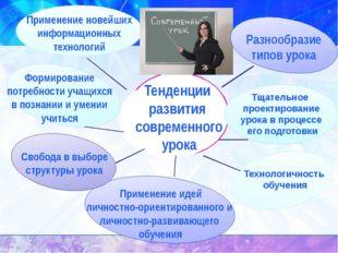 Тенденции развития современного урока Тщательное проектирование урока в проц
